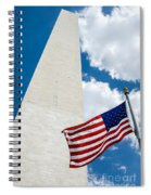 Washington Monument And Flag Spiral Notebook