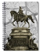 Washington Monument At Eakins Oval Spiral Notebook