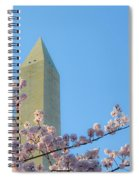 Washington Monument With Blossoms Spiral Notebook