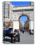 Washington Square Pianist Spiral Notebook