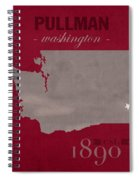Washington State University Cougars Pullman College Town State Map Poster Series No 123 Spiral Notebook