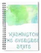 Washington - The Evergreen State - Map - State Phrase - Geology Spiral Notebook