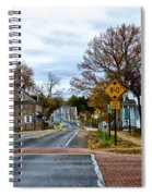 Washington's Crossing In The Fall Spiral Notebook