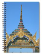 Wat Amarintaram Temple Gate Dthb1524 Spiral Notebook