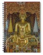 Wat Chai Monkol Phra Ubosot Buddha Images Dthcm0849 Spiral Notebook