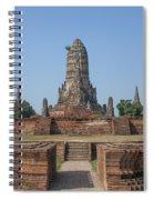 Wat Chaiwatthanaram From The East Dtha0187 Spiral Notebook
