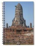 Wat Chaiwatthanaram Ubosot Platform And Buddha Images Dtha0189 Spiral Notebook