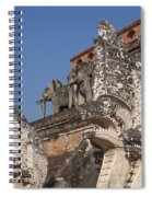 Wat Chedi Luang Phra Chedi Luang Five-headed Naga And Elephants Dthcm0055 Spiral Notebook