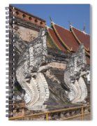 Wat Chedi Luang Phra Chedi Luang Five-headed Naga Dthcm0052 Spiral Notebook