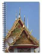 Wat Chumphon Nikayaram Phra Ubosot Gables Dtha0125 Spiral Notebook