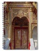 Wat Dok Eung Phra Ubosot Entrance Dthcm0353 Spiral Notebook
