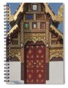 Wat Duang Dee Phra Ubosot Door  Dthcm0297 Spiral Notebook
