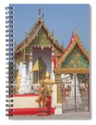 Wat Kampaeng Phra Ubosot And Gate Dtha0142 Spiral Notebook