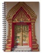 Wat Liab Ubosot Center Door Dthu349 Spiral Notebook