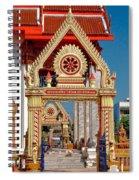 Wat Liab Ubosot Gateway Dthu039 Spiral Notebook