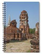 Wat Mahathat Prangs And Chedi Dtha0231 Spiral Notebook