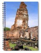 Wat Mahathat Temple In Ayutthaya Spiral Notebook