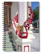 Wat Mahawanaram Ubosot Stair Naga Dthu656 Spiral Notebook