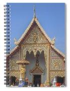 Wat Phra Singh Phra Wihan Luang Gable Dthcm0238 Spiral Notebook