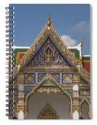 Wat Phrasri Mahathat Ubosot Gable Dthb1465 Spiral Notebook