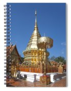 Wat Phratat Doi Suthep Golden Chedi Dthcm0002 Spiral Notebook