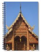 Wat Phuak Hong Phra Wihan Gable Dthcm0575 Spiral Notebook