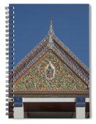 Wat Thewasunthon Preaching Hall Gable Dthb1423 Spiral Notebook