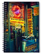 Watch Repair Shop - Keys Made Here Spiral Notebook