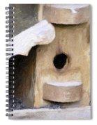 Watching - Impasto Paint Spiral Notebook