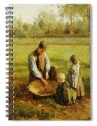 Watching Father Work Spiral Notebook