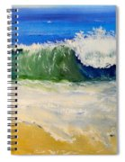 Watching The Wave As Come On The Beach Spiral Notebook