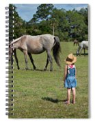 Watching The Wild Horses Spiral Notebook