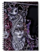 Watching You Venice Italy Spiral Notebook