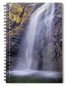 Watefall At The Mountains Spiral Notebook