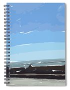Water And Concrete Spiral Notebook