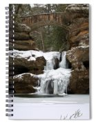 Water And Ice Flow Spiral Notebook