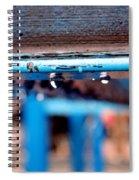 Water Blue  Spiral Notebook