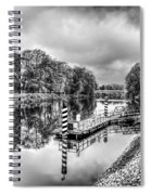 Water Bus Stop Bute Park Cardiff Mono Spiral Notebook