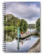Water Bus Stop Bute Park Cardiff Spiral Notebook