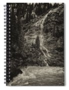 Water Cascade Along The Animas River Colorado Dsc07657 Spiral Notebook