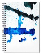 Water Dance - Blue And White Art By Sharon Cummings Spiral Notebook
