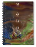 Water Drop Abstract 5 Spiral Notebook