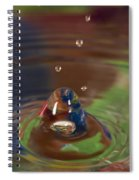 Water Drop Abstract 6 Spiral Notebook