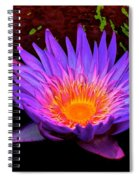 Water Droplets On Lily Spiral Notebook
