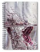 Water Drops Abstract  Spiral Notebook