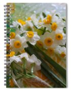 Water Drops On A Bouquet Spiral Notebook