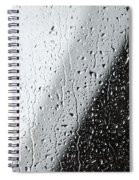 Water Drops On A Window Spiral Notebook