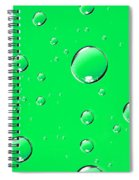 Water Drops On Green Spiral Notebook