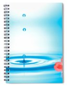 Water Drops Rising From Water Rings Spiral Notebook