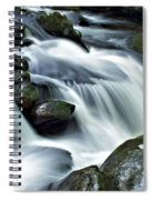 Water Flowsthrough The Mountains Spiral Notebook